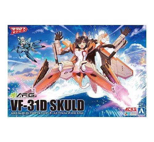 Aoshima (AOS) 57704 VARIABLE FIGHTER GIRLS MACROSS DELTA VF-31D SKULD