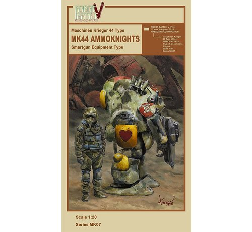 Hasegawa (HSG) 64007 MK44 Ammoknights Smartgun Equipment Type 1/20 Maschinen Krieger