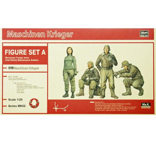 Hasegawa (HSG) 64002 Figure Set A Maschinen Krieger 1/20