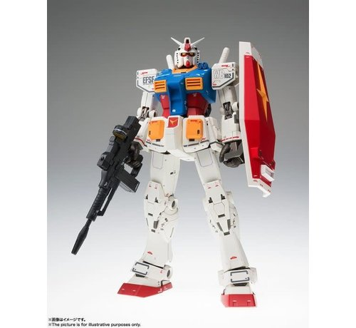"Bandai 55797 RX-78-02 Gundam (40th Anniversary Ver.) ""Mobile Suit Gundam: The Origin"", Bandai Gundam Fix Figuration Metal Composite"