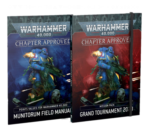 Games Workshop -GW 40-10 CHAPTER APPROVED: GRAND TOURNAMENT 2020 MISSION PACK & MUNITORUM FIELD MANUAL