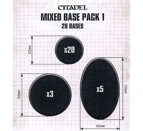 Games Workshop -GW 66-19 CITADEL MIXED BASE PACK 1