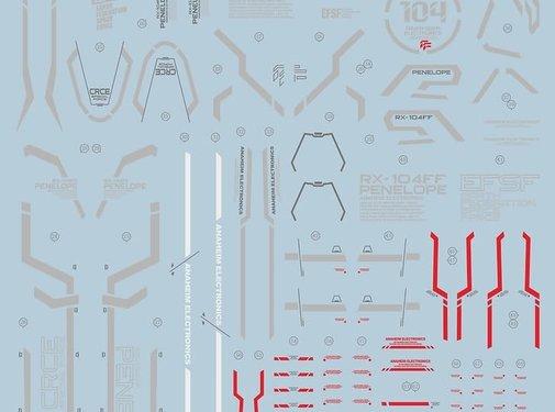 Super Indoors Men Pro (SIM) 0614C31 Water Decals HG Penelope Gundam (light color version) 1/144