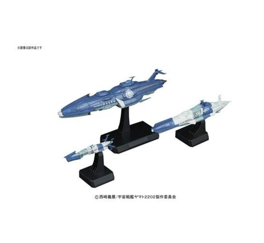 "215636 Yunagi Combined Cosmo Fleet ""Star Blazers 2202"", Bandai Star Blazers/Space Battleship Yamato 1/1000"