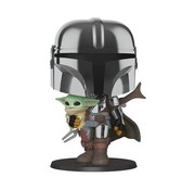 Funko Pop! Star Wars: The Mandalorian Chrome 10-Inch Pop!
