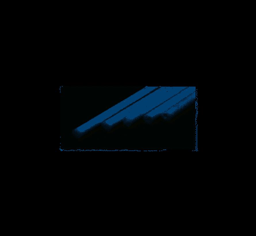 213 Round Rod .100 (2.5MM) OD WHITE POLYSTYRENE