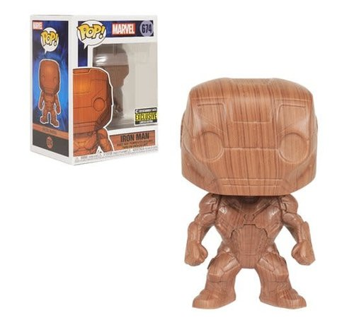 Funko Pop! 36579 Iron Man Wood Deco Pop! Vinyl Figure - Entertainment Earth Exclusive