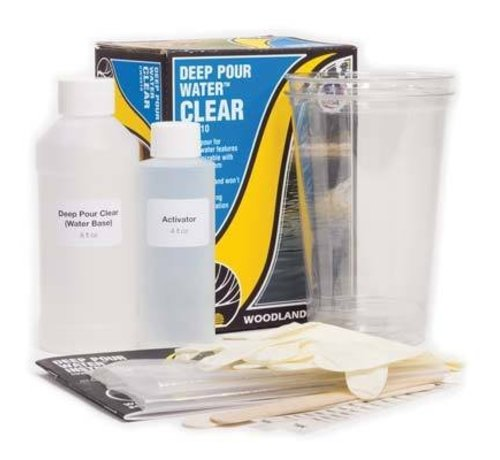 WOO - Woodland Scenics 785- CW4510 Deep Pour Water Clear Kit
