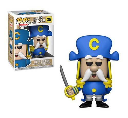 Funko Pop! 36479 Quaker Oats Cap'n Crunch with Sword Pop! Vinyl Figure