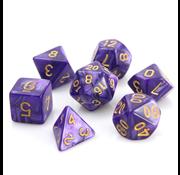 Die Hard Dice Purple Swirl w/ Gold - 7 Piece Set