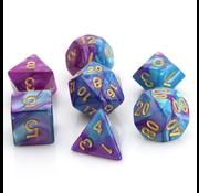 Die Hard Dice Purple/Turquoise Marble - 7 Piece Set