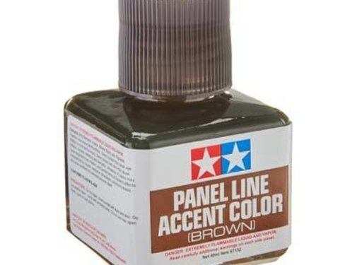 Tamiya (TAM) 865- 87132 Panel Line Accent Color Brown (Wash)
