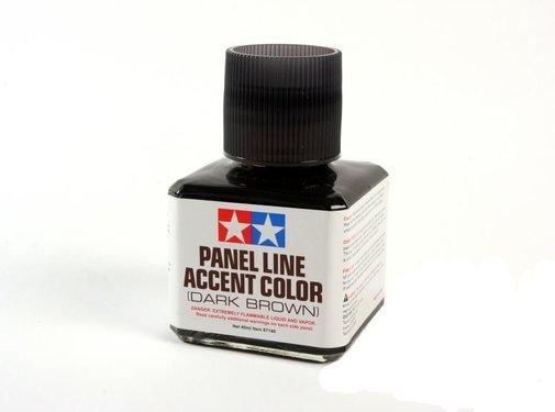 Tamiya (TAM) 865- 87140 PANEL LINE ACCENT COLOR Dark Brown (wash)