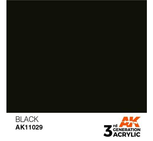 AK INTERACTIVE (AKI) 11029 AK Interactive 3rd Gen Acrylic Black 17ml