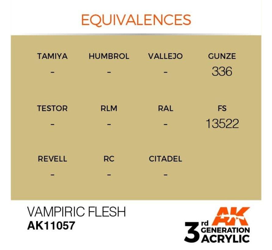11057 AK Interactive 3rd Gen Acrylic Vampiric Flesh 17ml
