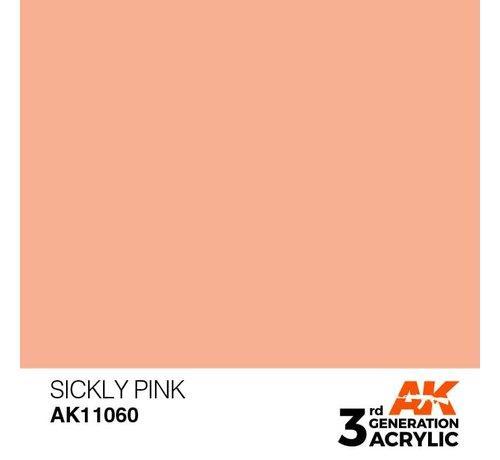 AK INTERACTIVE (AKI) 11060 AK Interactive 3rd Gen Acrylic Sickly Pink 17ml