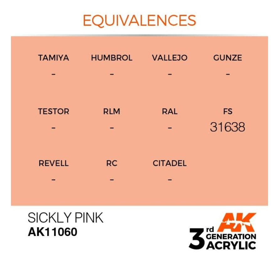 11060 AK Interactive 3rd Gen Acrylic Sickly Pink 17ml