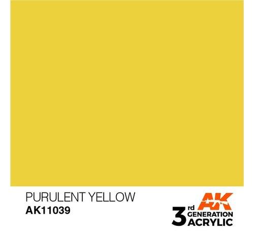 AK INTERACTIVE (AKI) 11039 AK Interactive 3rd Gen Acrylic Purulent Yellow 17ml