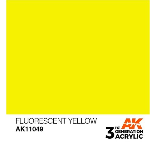 AK INTERACTIVE (AKI) 11049 AK Interactive 3rd Gen Acrylic Fluorescent Yellow 17ml