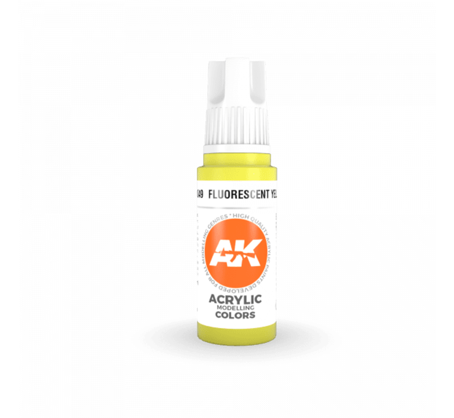 11049 AK Interactive 3rd Gen Acrylic Fluorescent Yellow 17ml