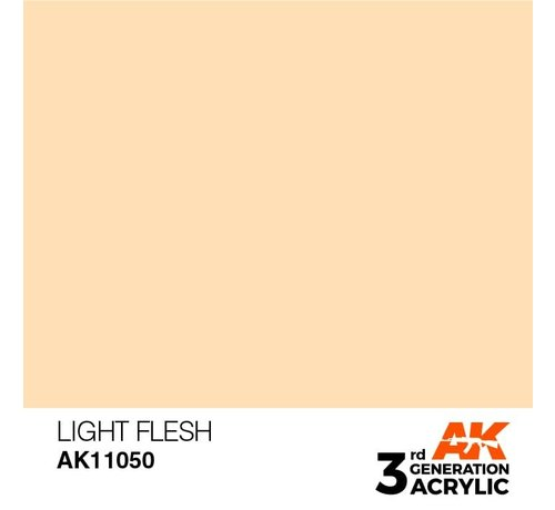 AK INTERACTIVE (AKI) 11050 AK Interactive 3rd Gen Acrylic Light Flesh 17ml