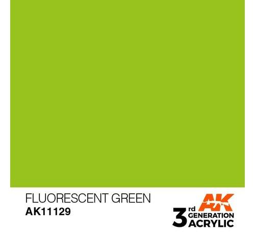 AK INTERACTIVE (AKI) 11129 AK Interactive 3rd Gen Acrylic Fluorescent Green 17ml