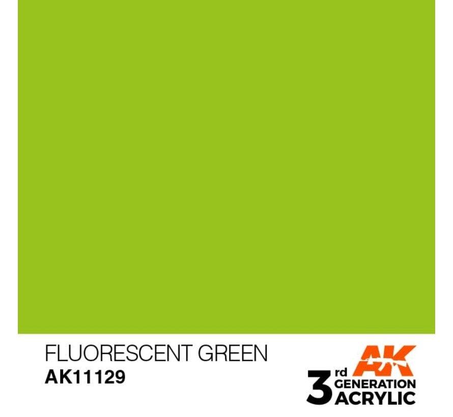 11129 AK Interactive 3rd Gen Acrylic Fluorescent Green 17ml