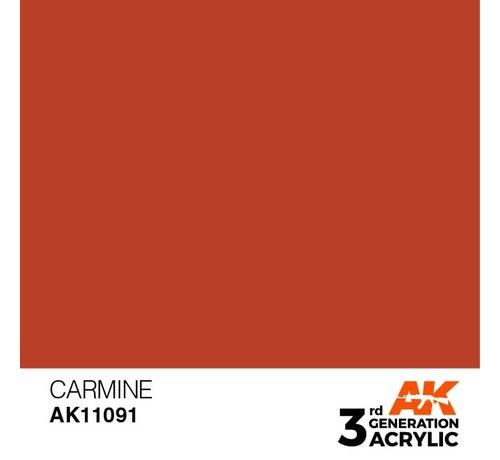 AK INTERACTIVE (AKI) 11091 AK Interactive 3rd Gen Acrylic Carmine 17ml