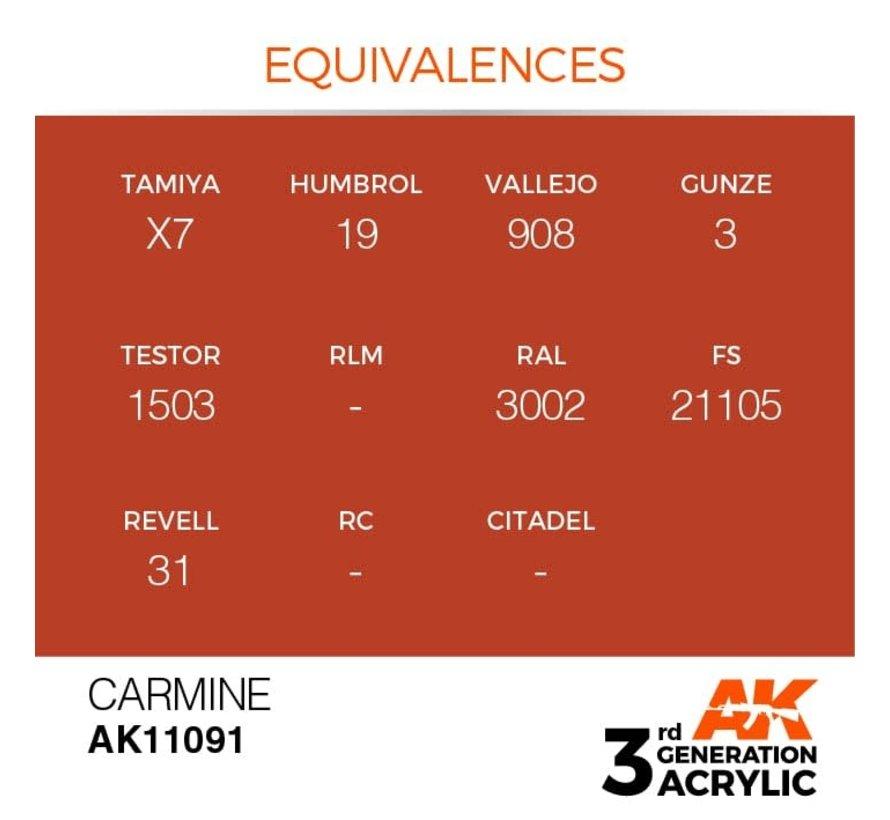 11091 AK Interactive 3rd Gen Acrylic Carmine 17ml