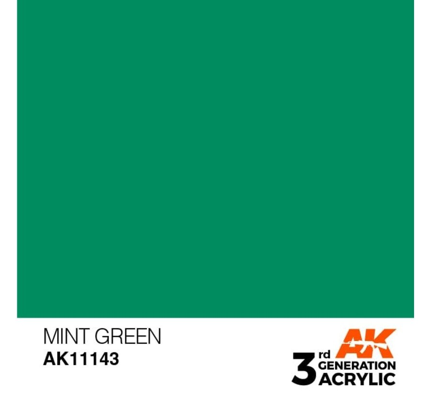 11143 AK Interactive 3rd Gen Acrylic Mint Green 17ml