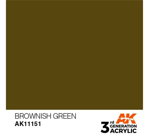 AK INTERACTIVE (AKI) 11151 AK Interactive 3rd Gen Acrylic Brownish Green 17ml