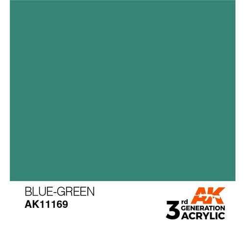 AK INTERACTIVE (AKI) 11169 AK Interactive 3rd Gen Acrylic Blue-Green 17ml