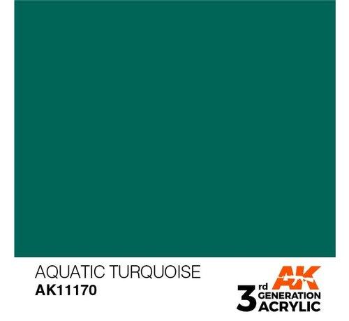 AK INTERACTIVE (AKI) 11170 AK Interactive 3rd Gen Acrylic Aquatic Turquoise 17ml