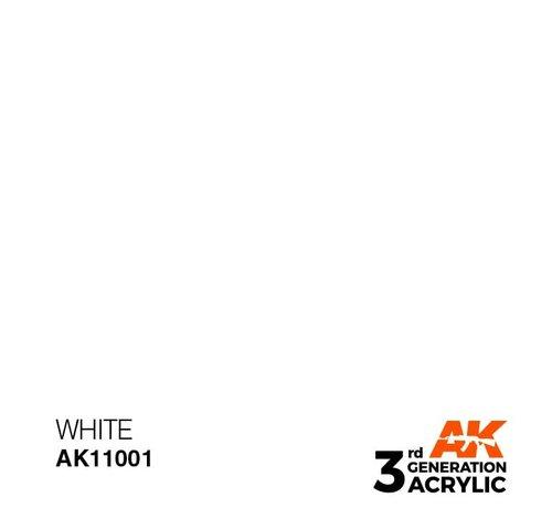 AK INTERACTIVE (AKI) 11001 AK Interactive 3rd Gen Acrylic White 17ml