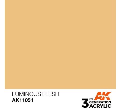 AK INTERACTIVE (AKI) 11051 AK Interactive 3rd Gen Acrylic Luminous Flesh 17ml