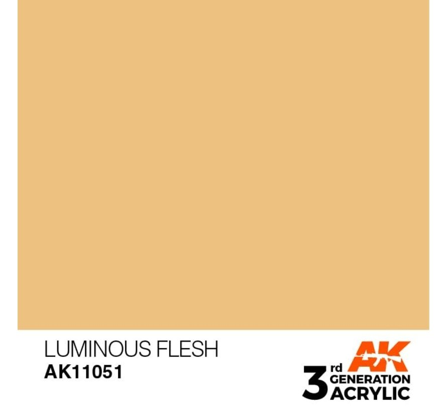 11051 AK Interactive 3rd Gen Acrylic Luminous Flesh 17ml