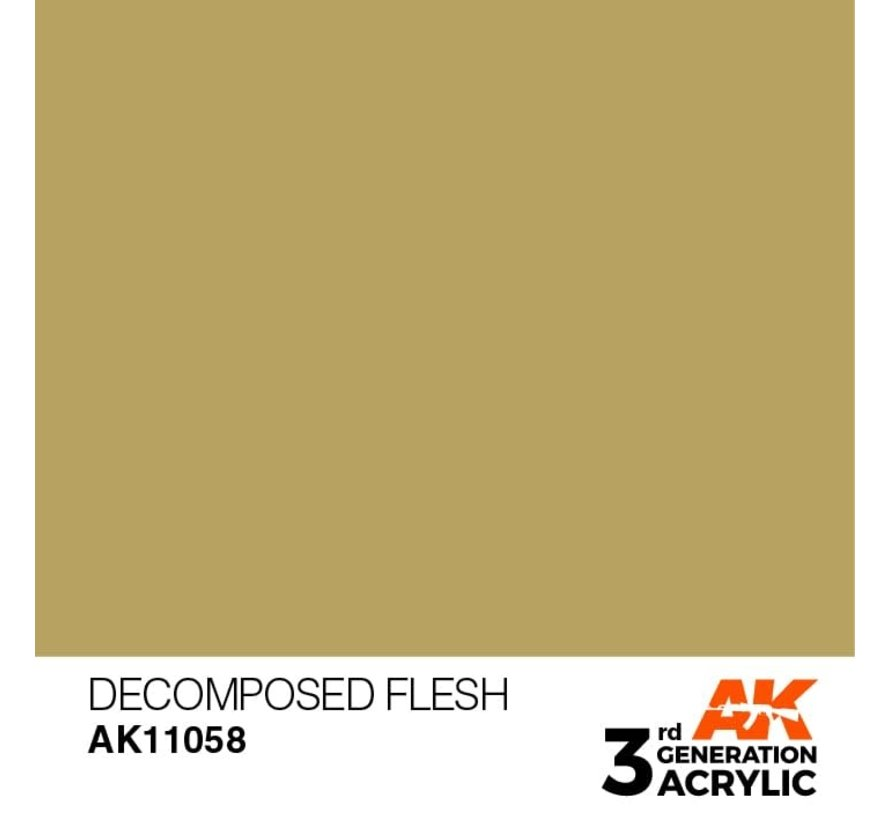 11058 AK Interactive 3rd Gen Acrylic Decomposed Flesh 17ml