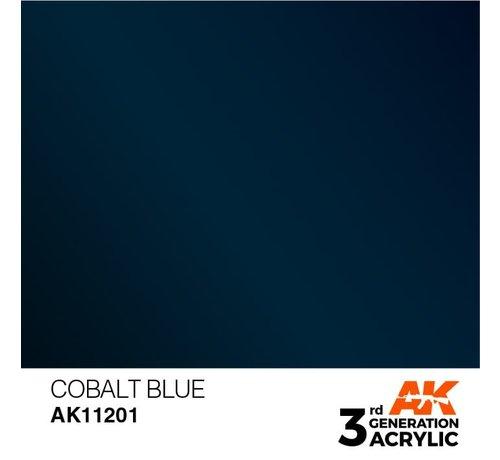 AK INTERACTIVE (AKI) 11201 AK Interactive 3rd Gen Acrylic Cobalt Blue 17ml