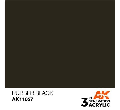 AK INTERACTIVE (AKI) 11027 AK Interactive 3rd Gen Acrylic Rubber Black 17ml