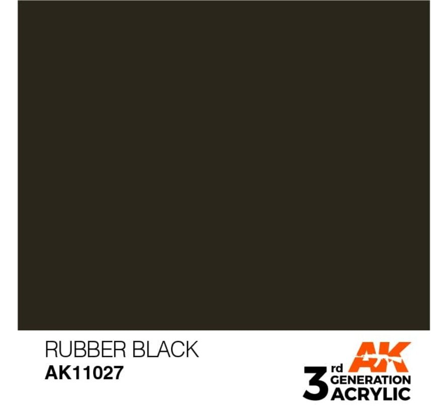 11027 AK Interactive 3rd Gen Acrylic Rubber Black 17ml