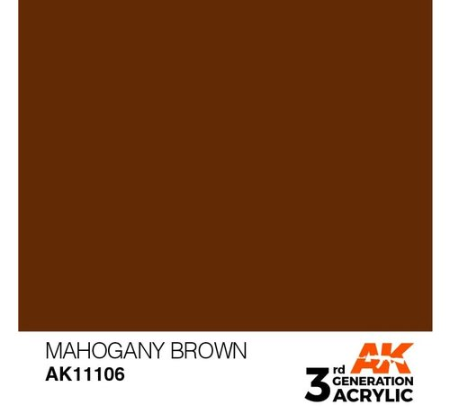 AK INTERACTIVE (AKI) 11106 AK Interactive 3rd Gen Acrylic Mahogany Brown 17ml