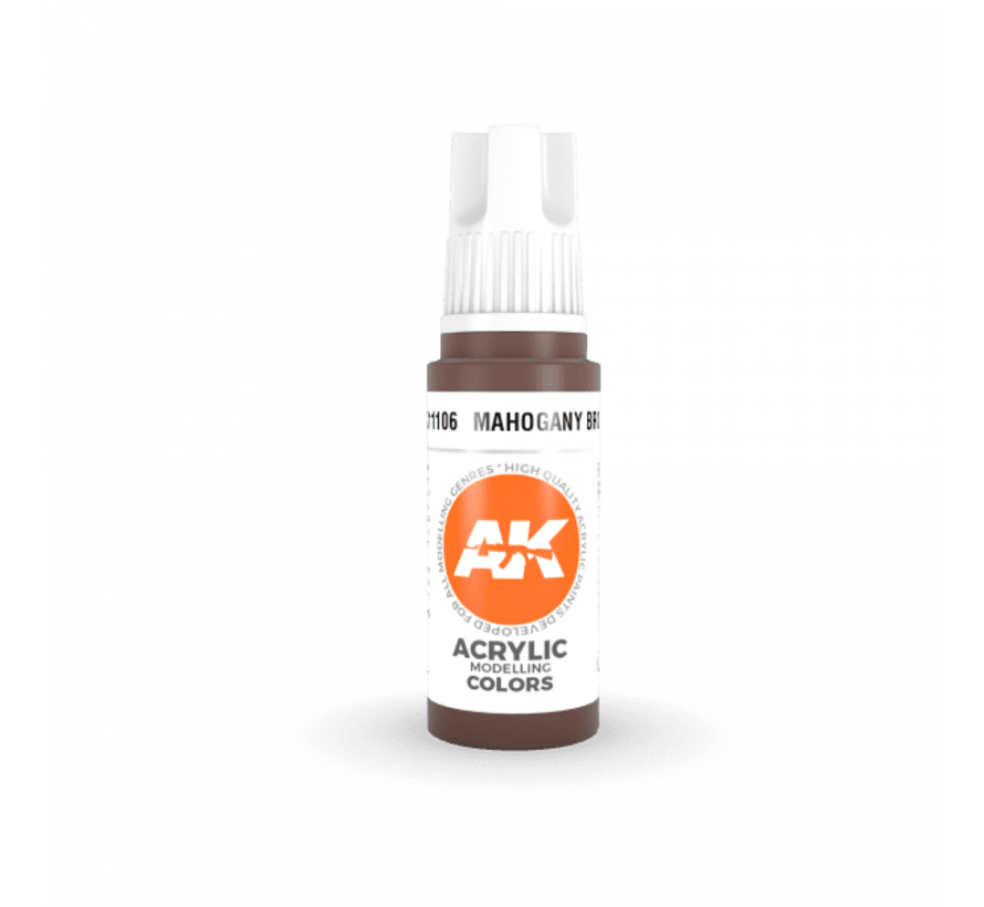 11106 AK Interactive 3rd Gen Acrylic Mahogany Brown 17ml