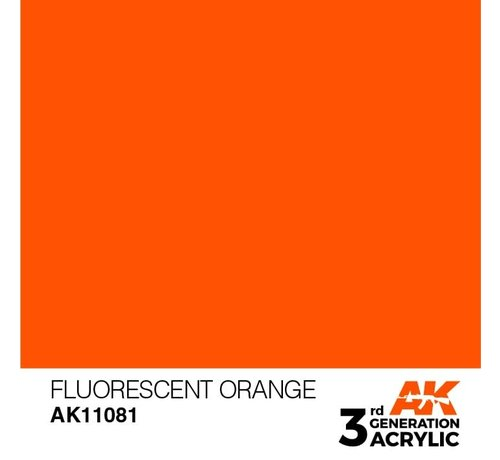 AK INTERACTIVE (AKI) 11081 AK Interactive 3rd Gen Acrylic Fluorescent Orange 17ml