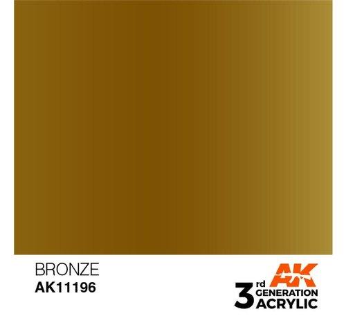 AK INTERACTIVE (AKI) 11196 Bronze 3rd Gen Acrylic 17ml