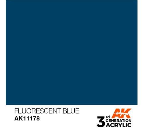 AK INTERACTIVE (AKI) 11178 Fluorescent Blue 3rd Gen Acrylic 17ml