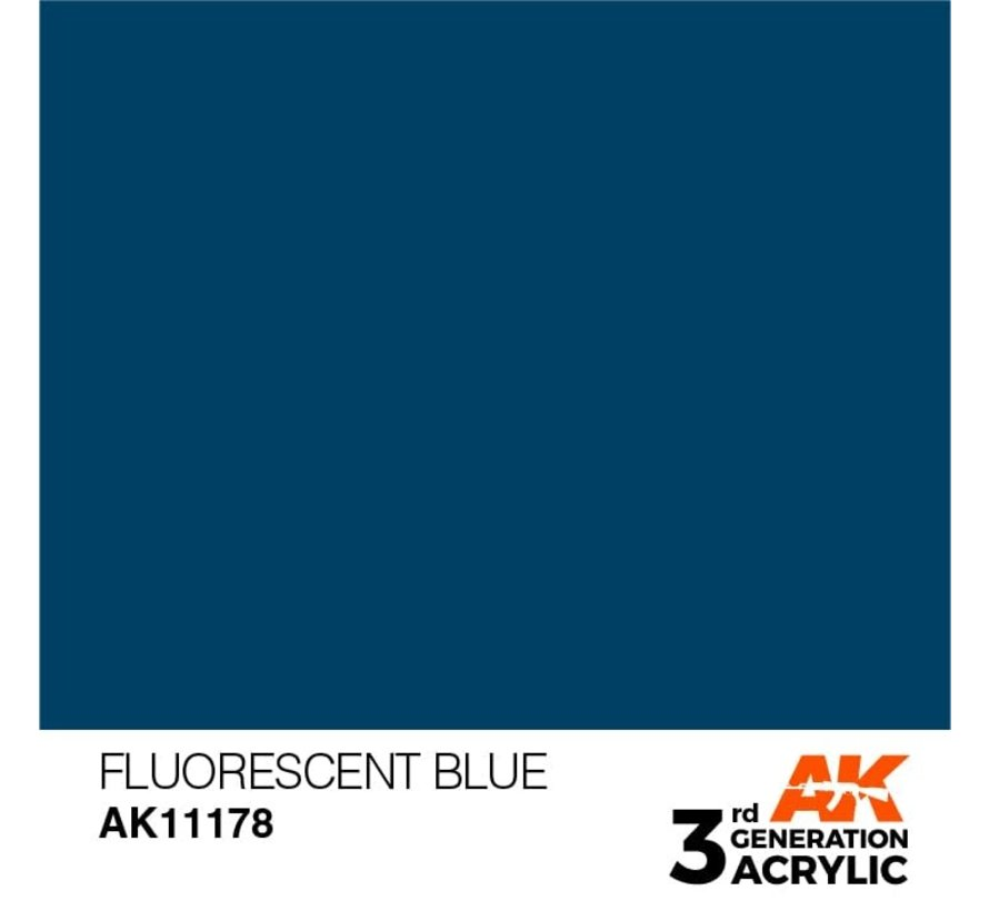 11178 Fluorescent Blue 3rd Gen Acrylic 17ml