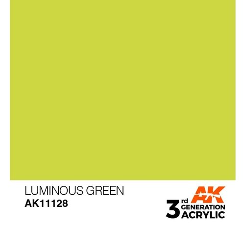 AK INTERACTIVE (AKI) 11128 AK Interactive 3rd Gen Acrylic Luminous Green 17ml