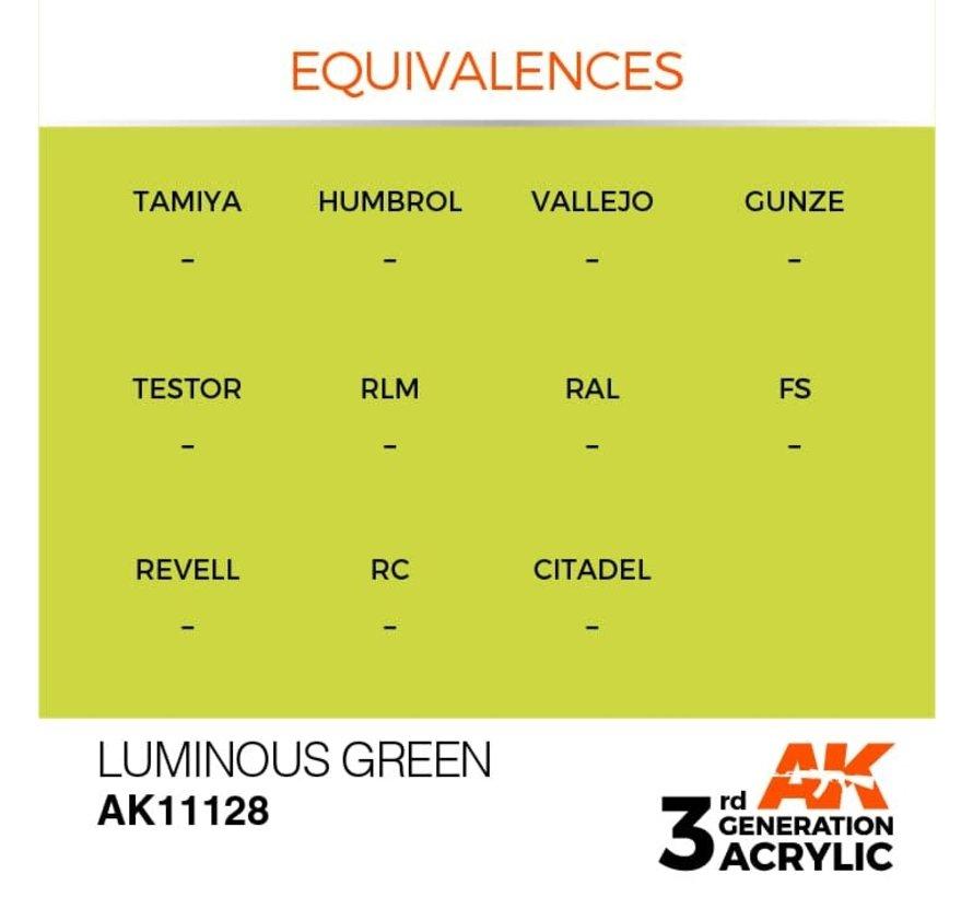 11128 AK Interactive 3rd Gen Acrylic Luminous Green 17ml