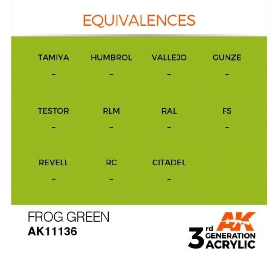 11136 AK Interactive 3rd Gen Acrylic Frog Green 17ml
