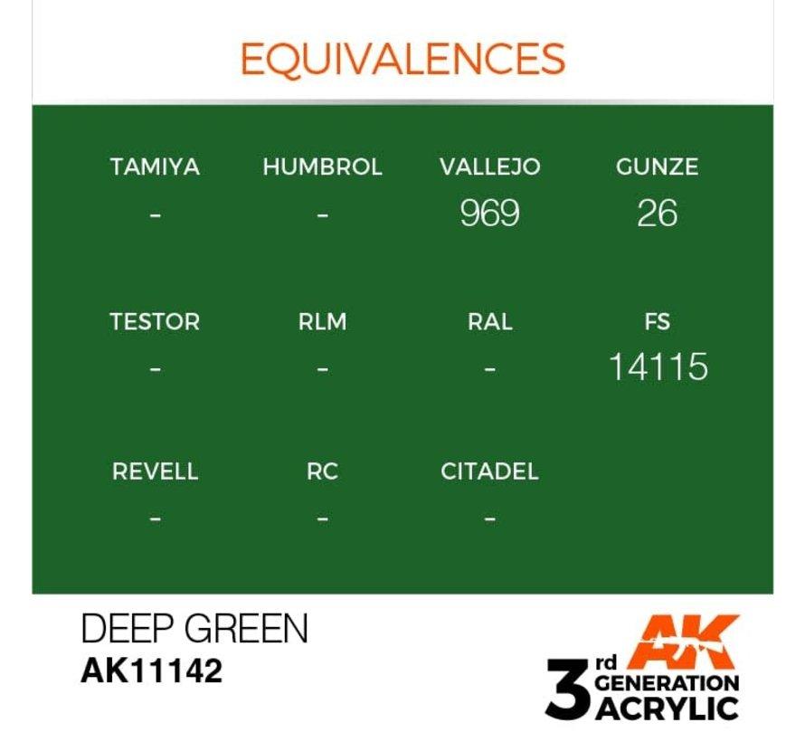 11142 AK Interactive 3rd Gen Acrylic Deep Green 17ml